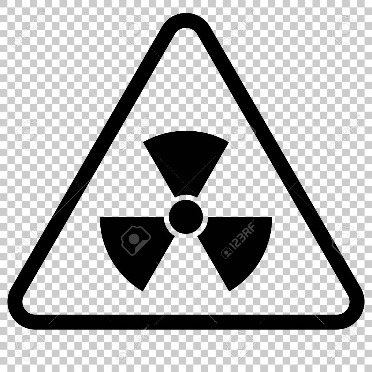 Radiation Hazard Sign Symbol Of Radioactive Threat Alert Danger
