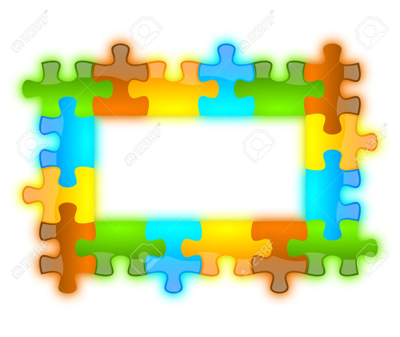 Colored And Jazzy Puzzle Frame Background 6 X 4 Format Stock Photo ...