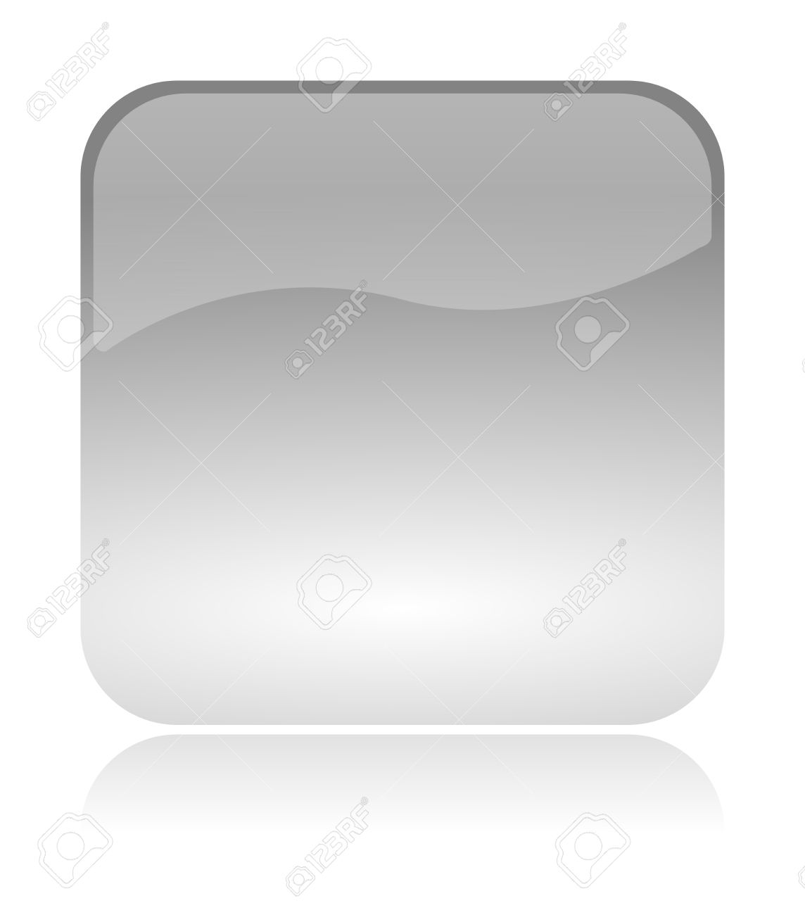 empty blank white transparent and glossy web interface icon