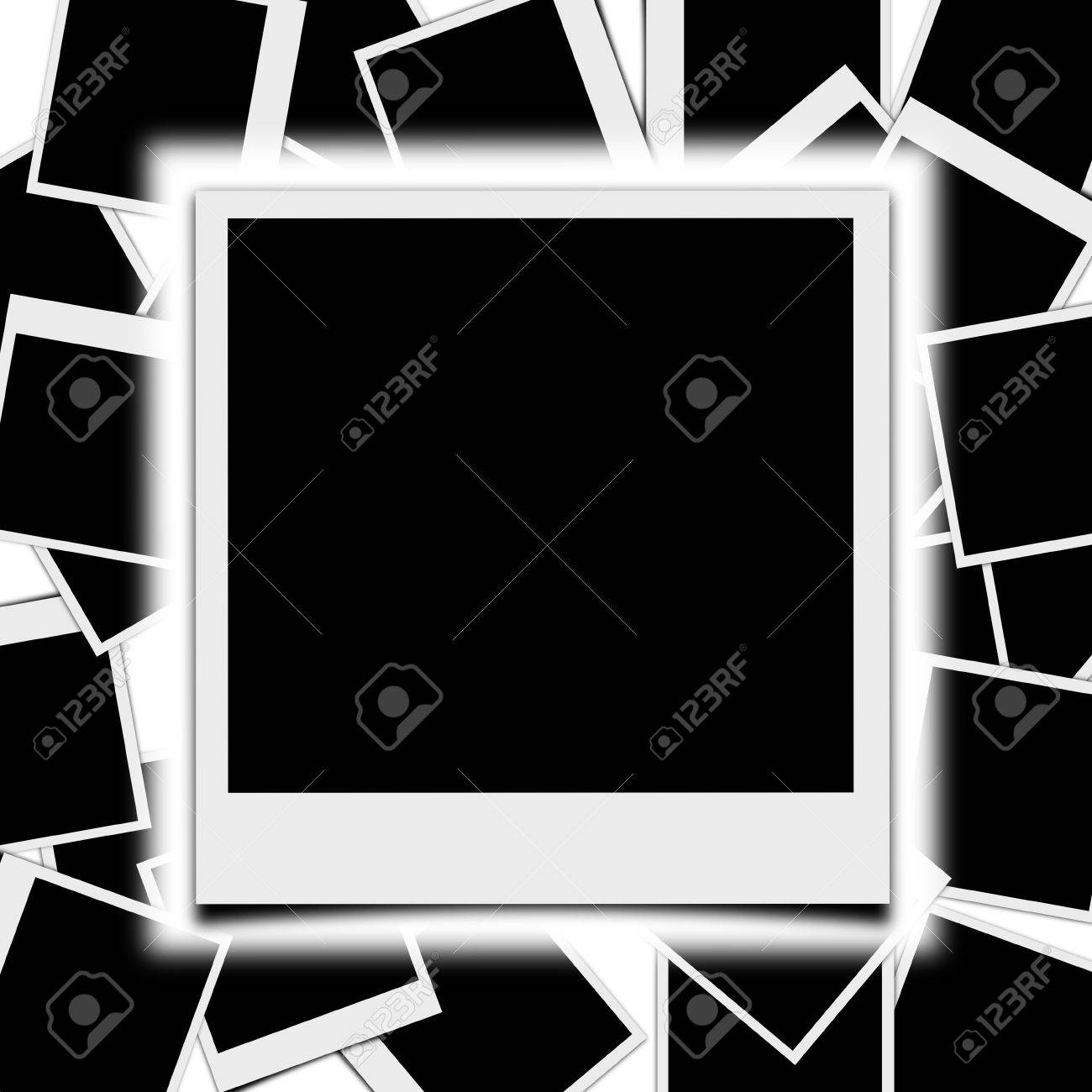 Picture Frame Polaroid Style With Photo Frames Background Stock ...