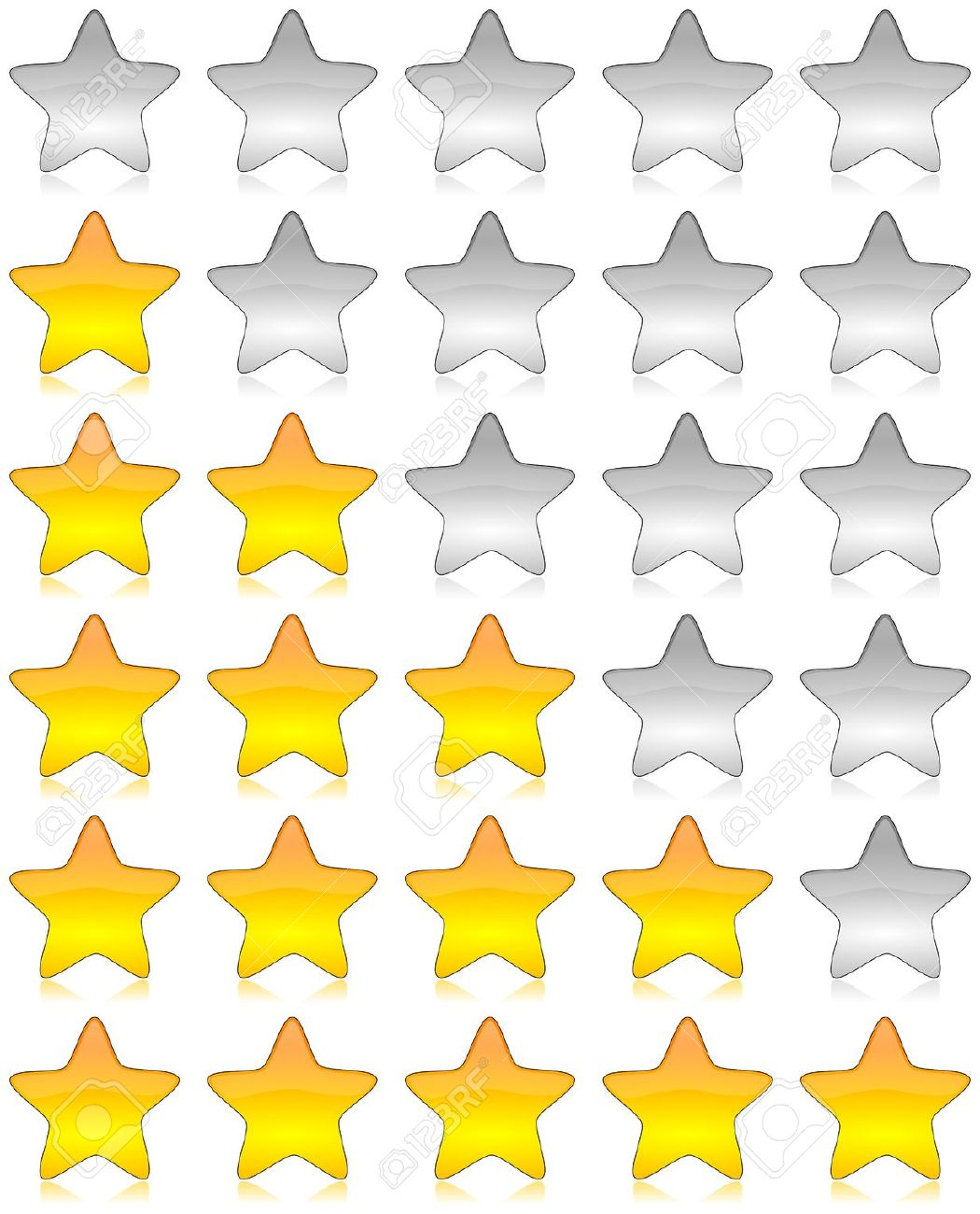 Star Rating Icons Stock Vector - Image: 39156166