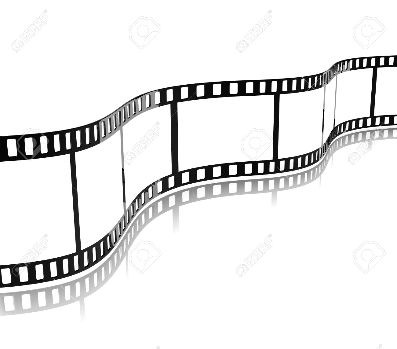 Movie Film Stripe Template On White Background 3D Illustration ...
