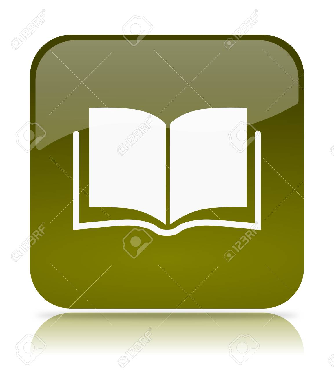 Green Book App Icon Illustration On White Background Stock Photo Picture And Royalty Free Image Image 35820929