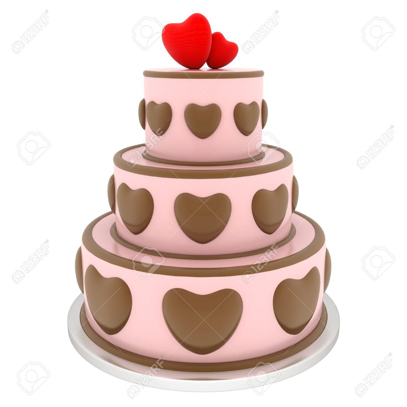 Eine Schone Hochzeit Kuchen Auf Einem Weissen Hintergrund Lizenzfreie