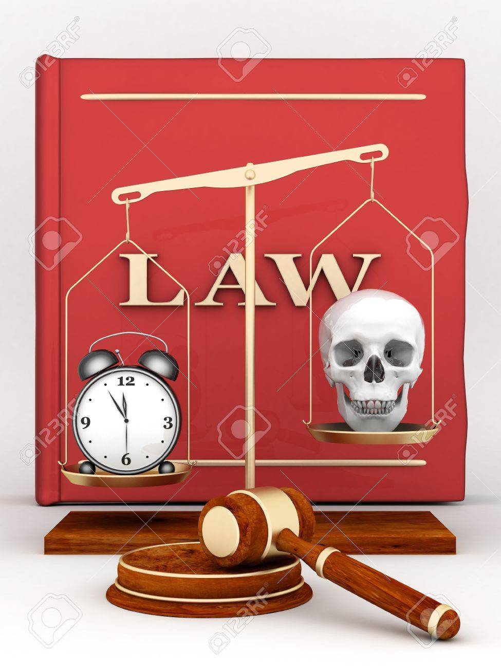 beautiful image of judicial attributes on a white background Stock Photo - 10337601
