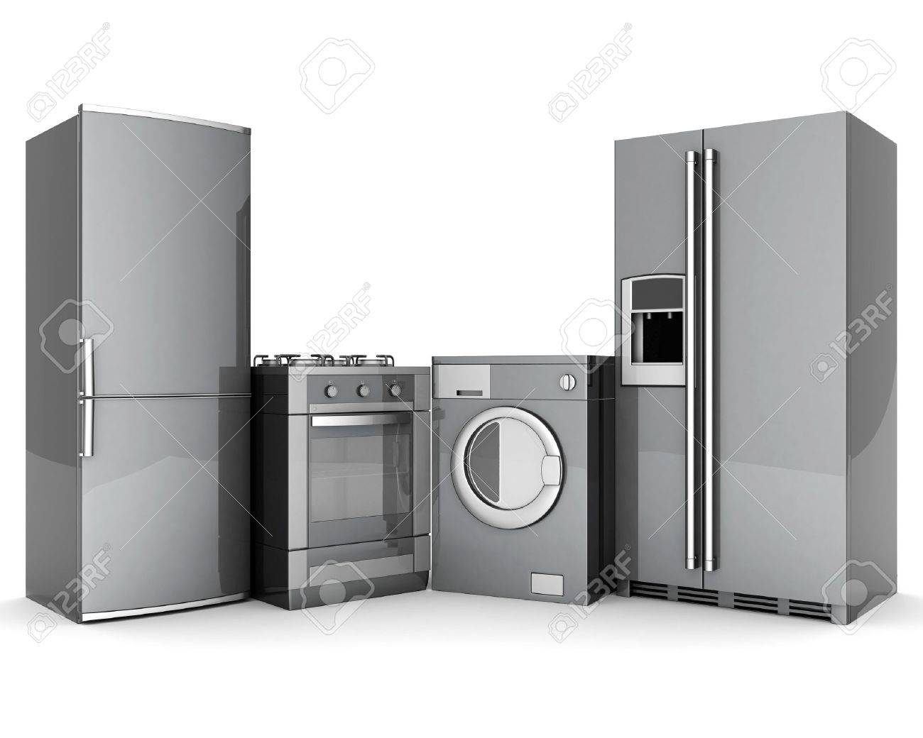 picture of household appliances on a white background - 10539701