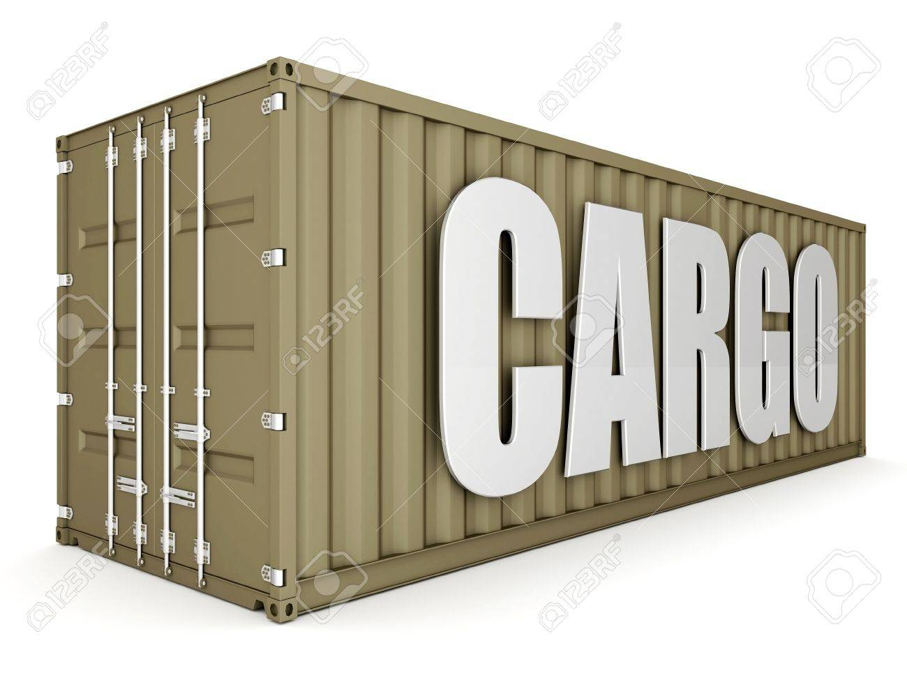 image of the shipping container on a white background Stock Photo - 10554993