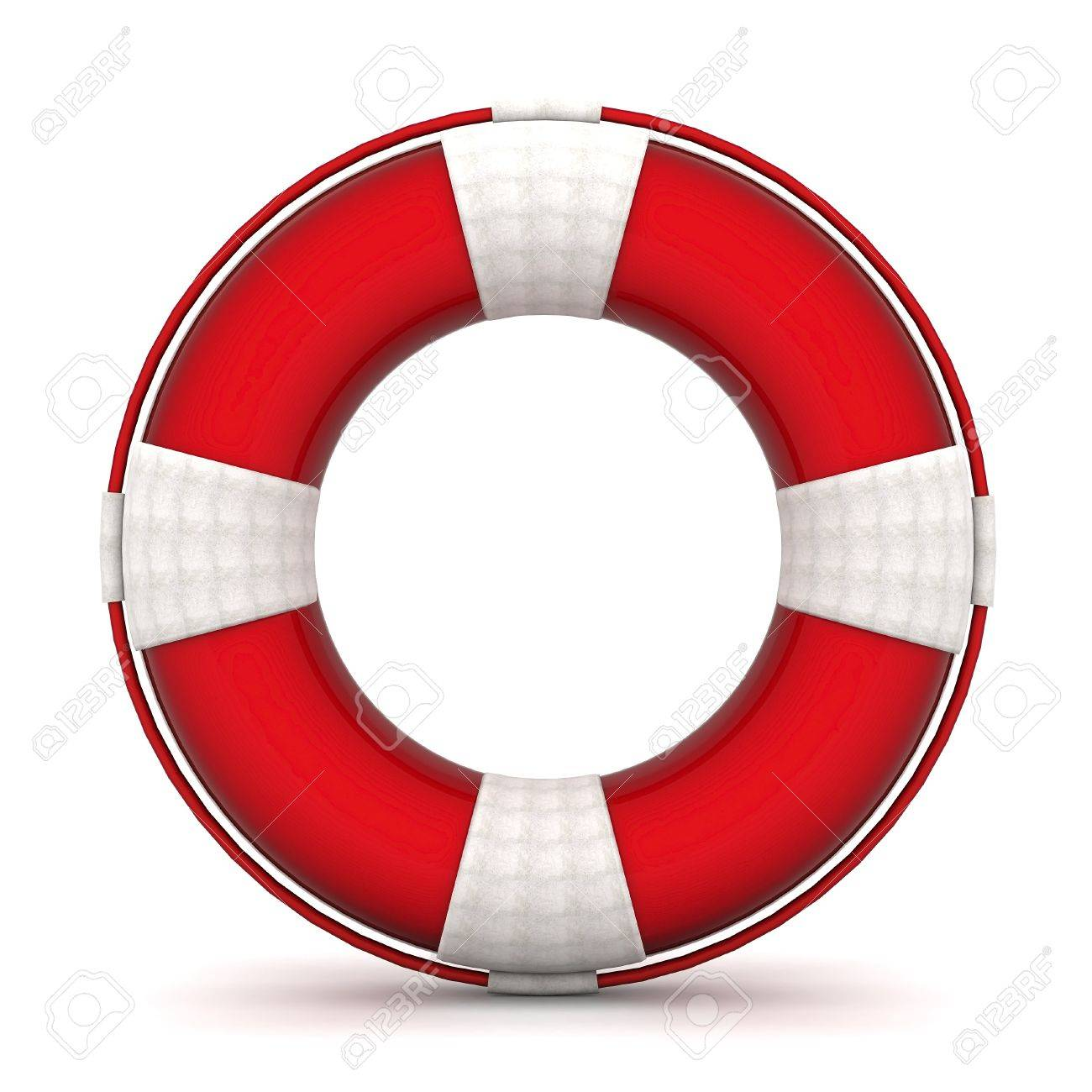 The image of a life buoy on a white background Stock Photo - 10614670