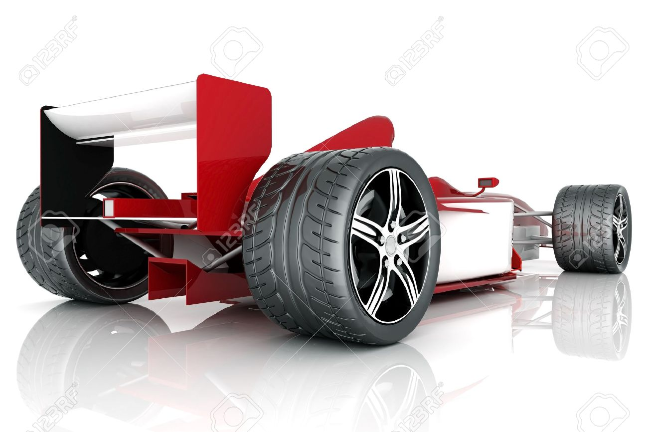 Image Red Sports Car On A White Background Stock Photo   10674690