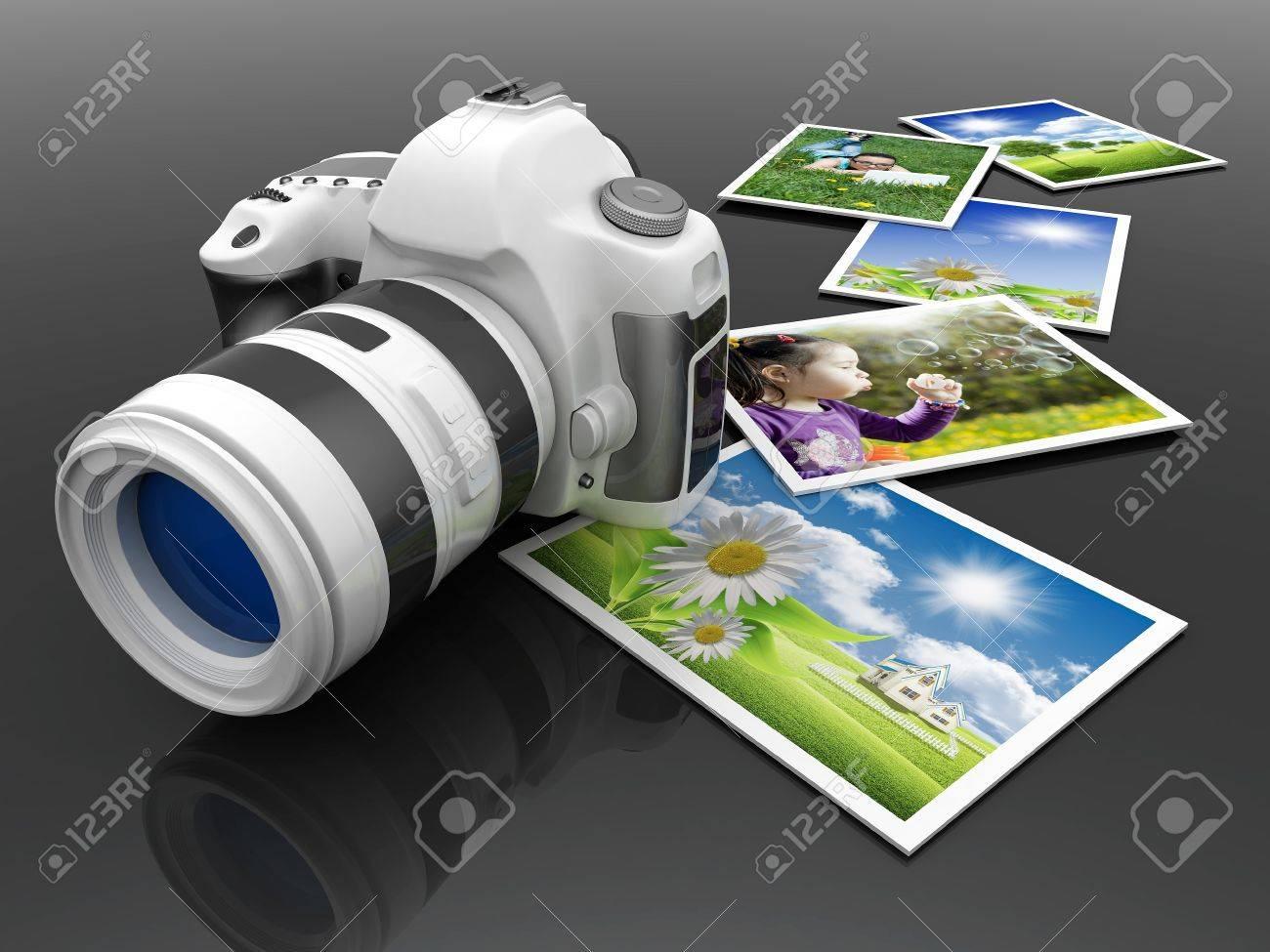 Digital camera image on white background Stock Photo - 12781783