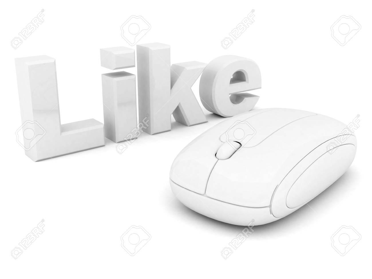 i Like symbol isolated on a white background Stock Photo - 15581611