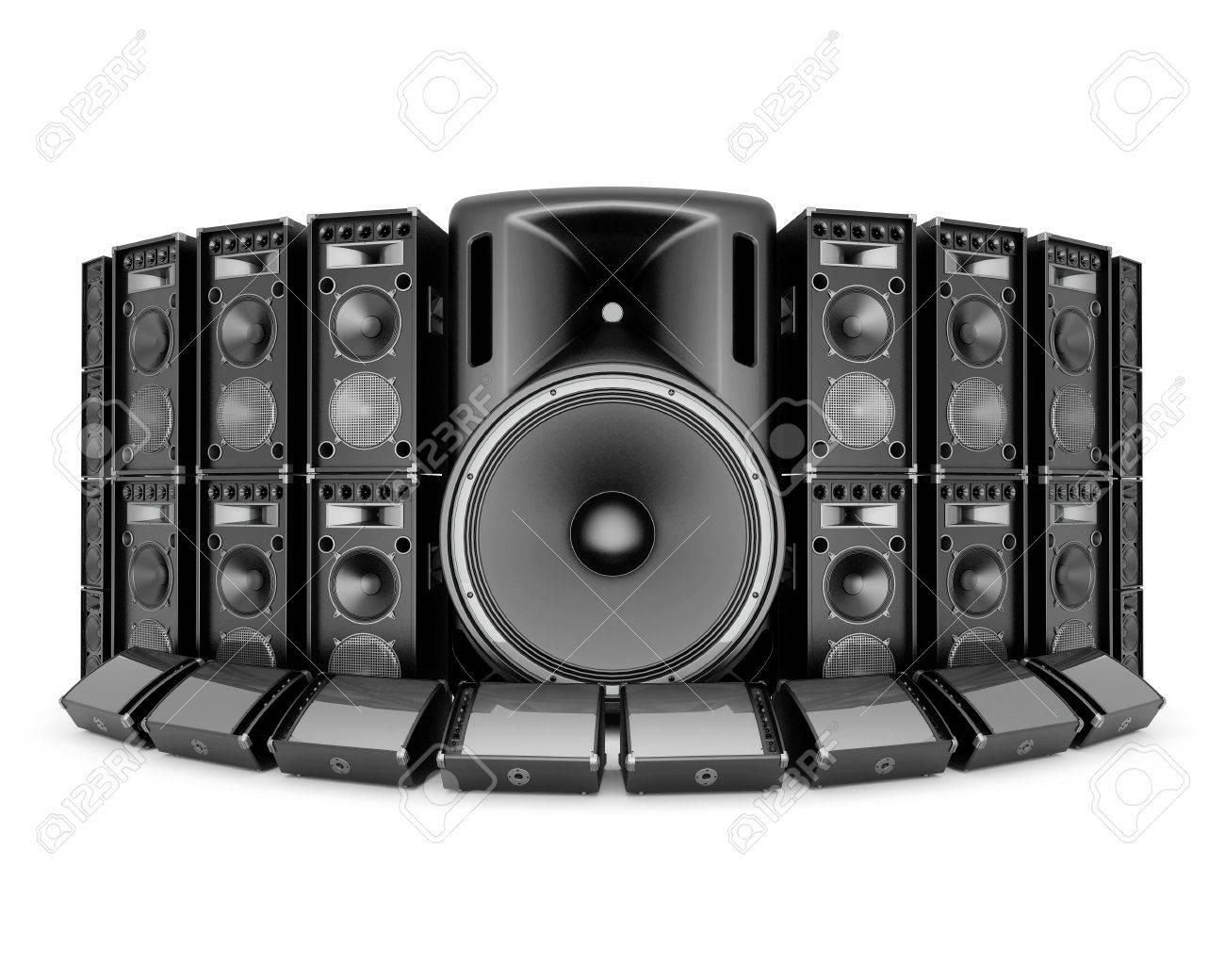 music speaker isolated on white background Stock Photo - 21062717