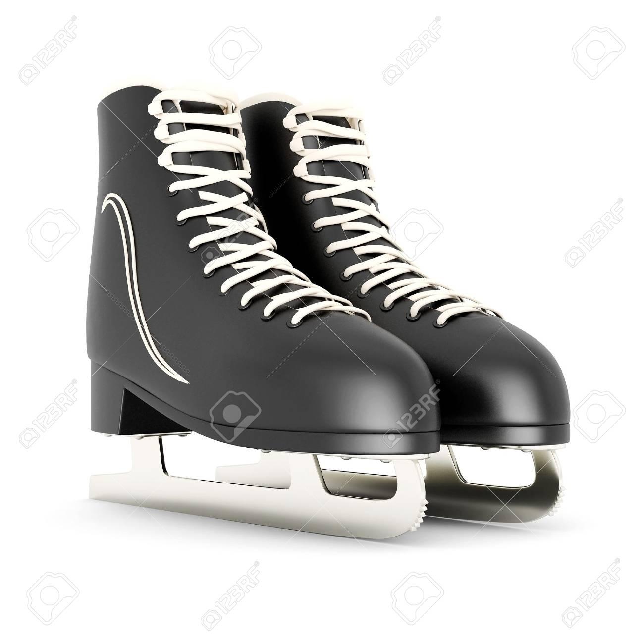 Roller skates for figure skating - Stock Photo Skates For Figure Skating On A White Background