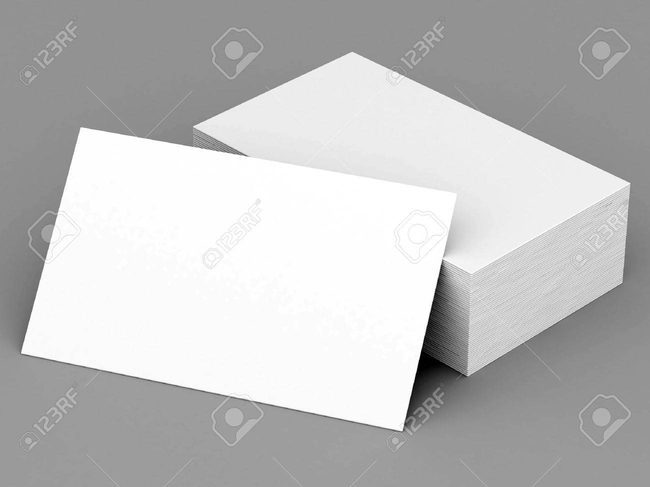 Business Cards Blank Mockup - Template - Gray Background Stock ...