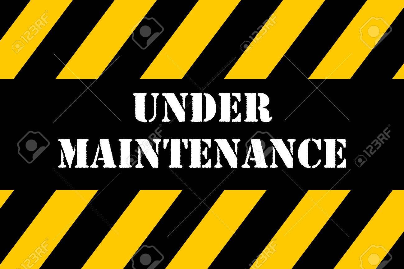 Under Maintenance banner - 39371134