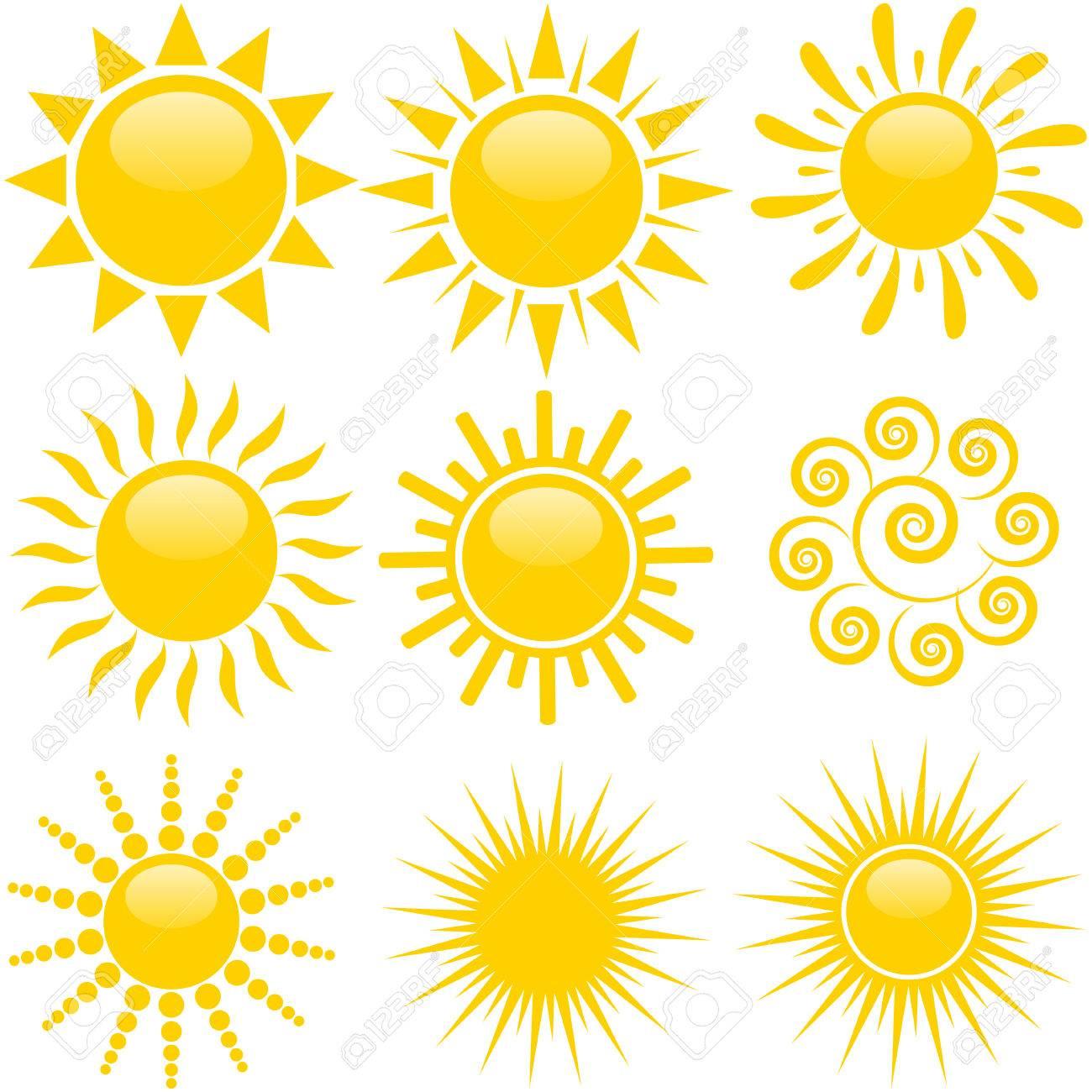 Set of sun icons - 40609115