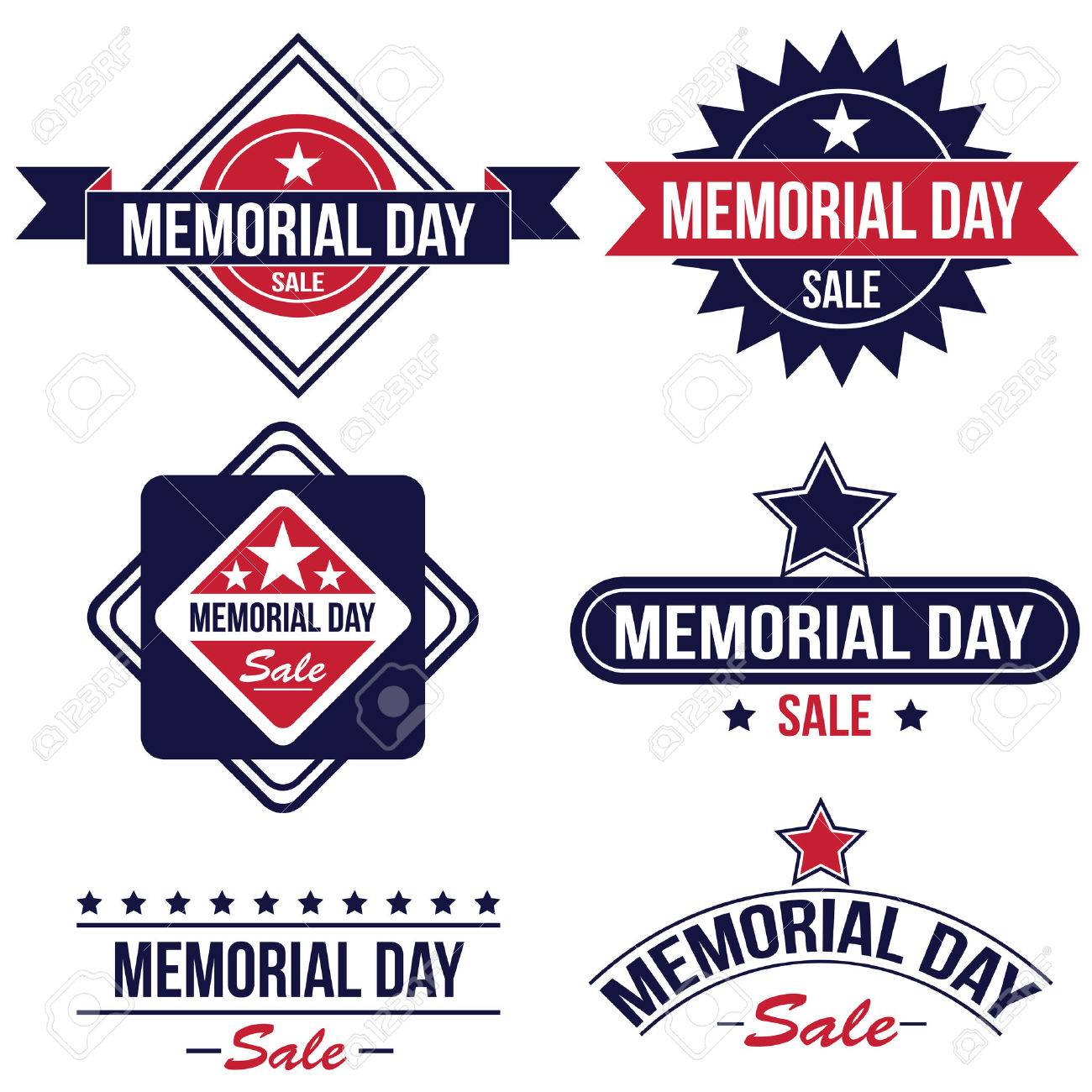 Memorial day sale badges - 42863346