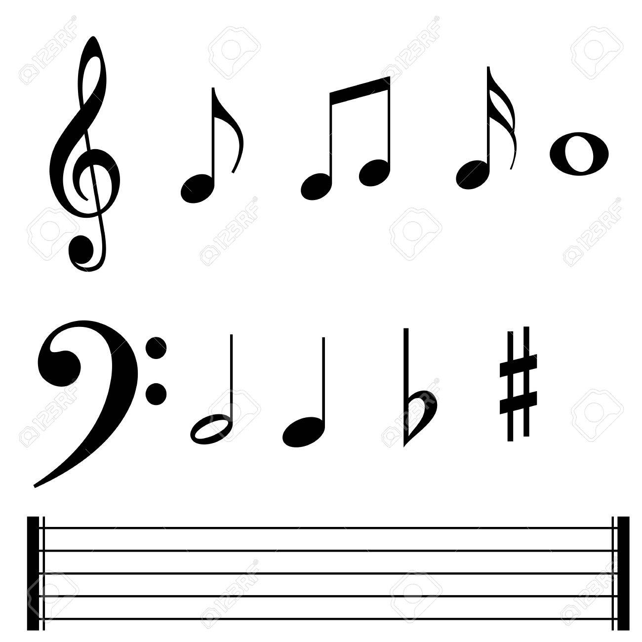 Music Note Symbols And Lines Stock Photo Picture And Royalty Free