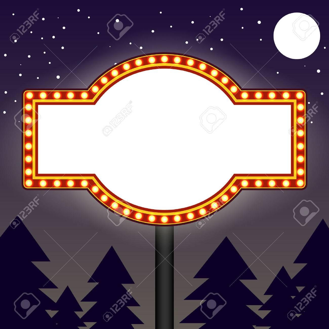 Marquee light bulbs billboard - 42867486