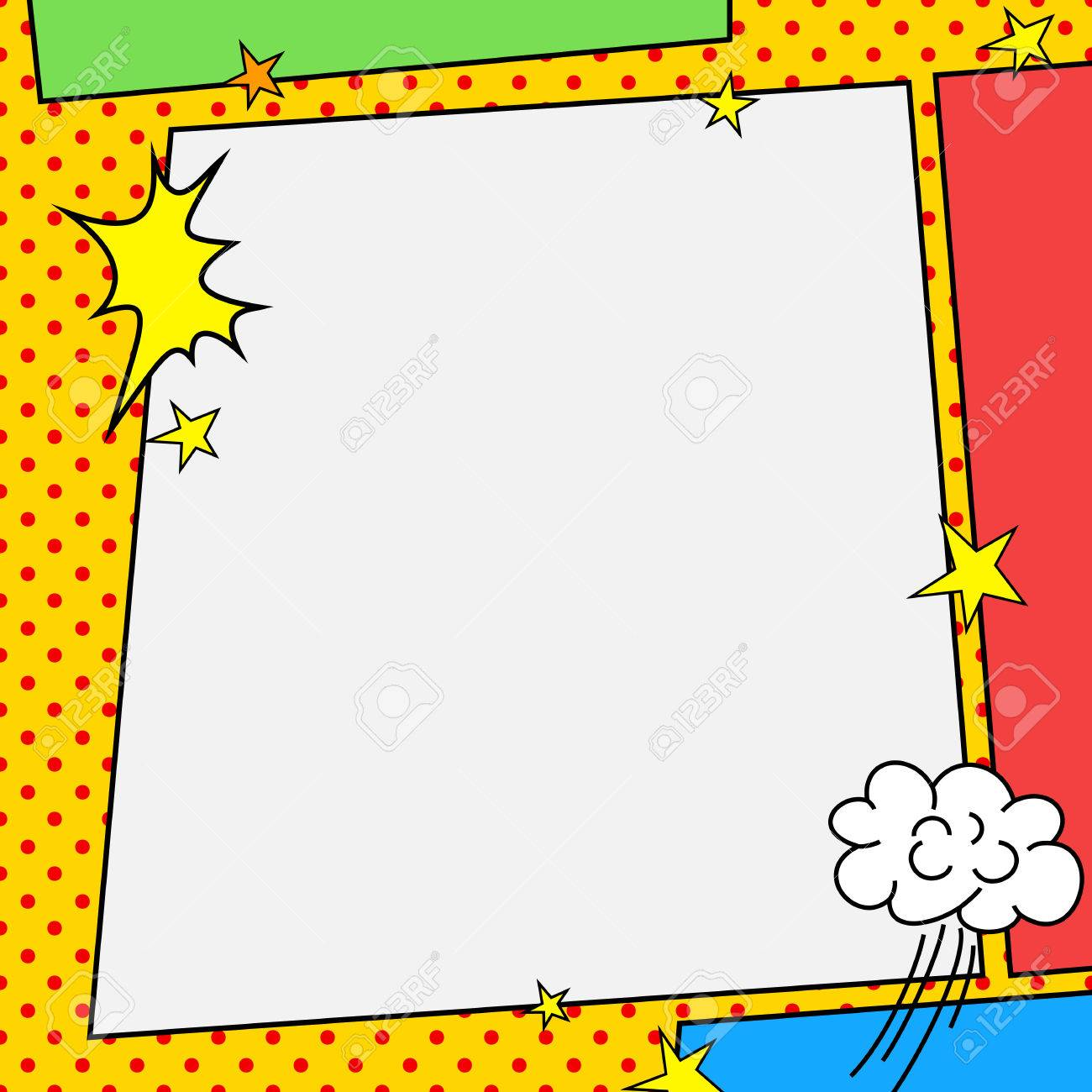 Comic Book Style Frame Stock Photo, Picture And Royalty Free Image ...