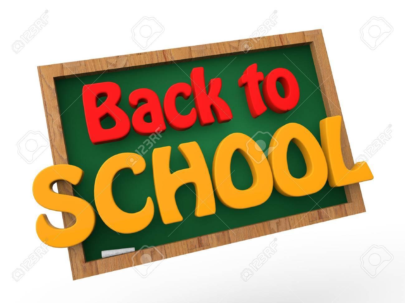 3d back to school green board - 44971967