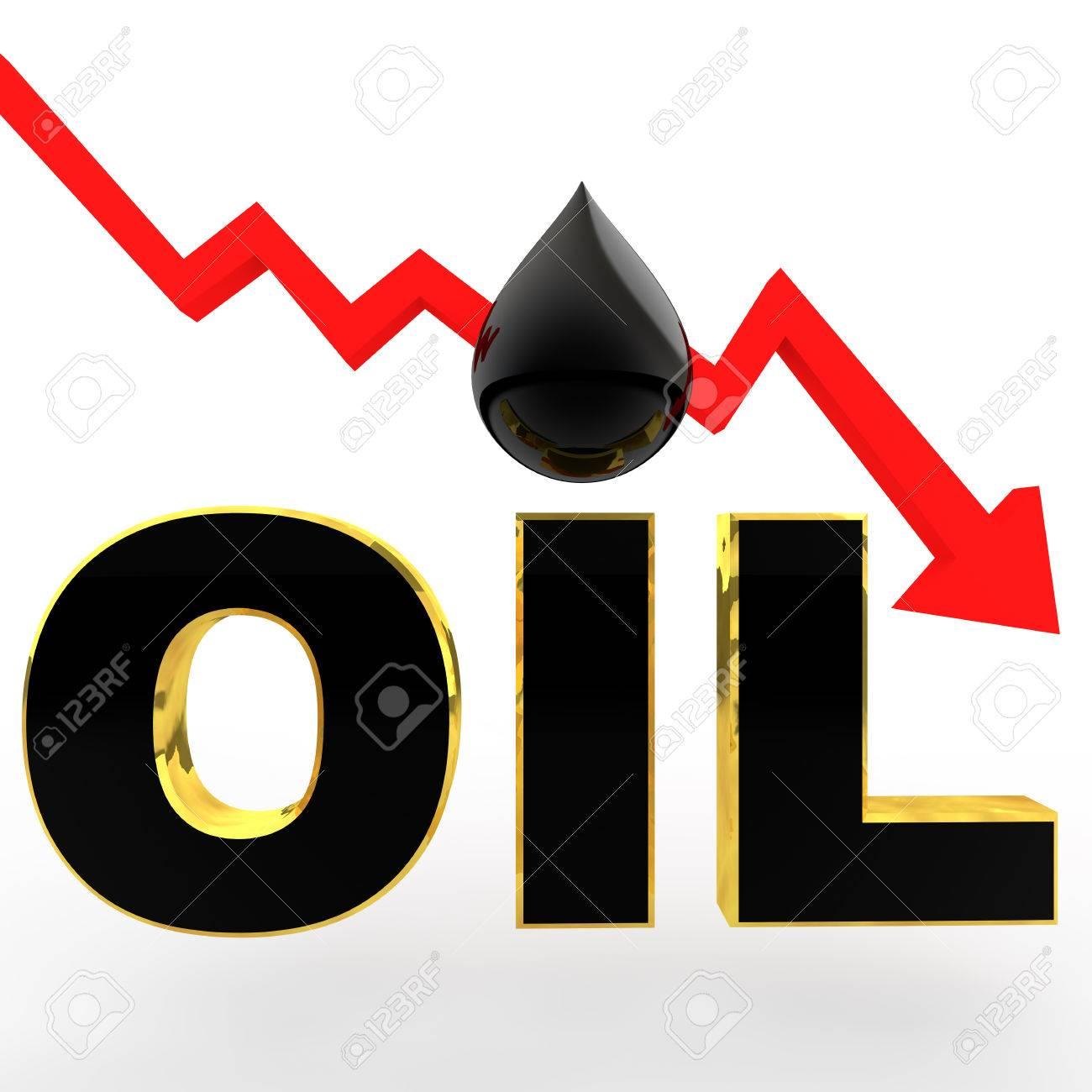3d oil price drop concept - 45363575