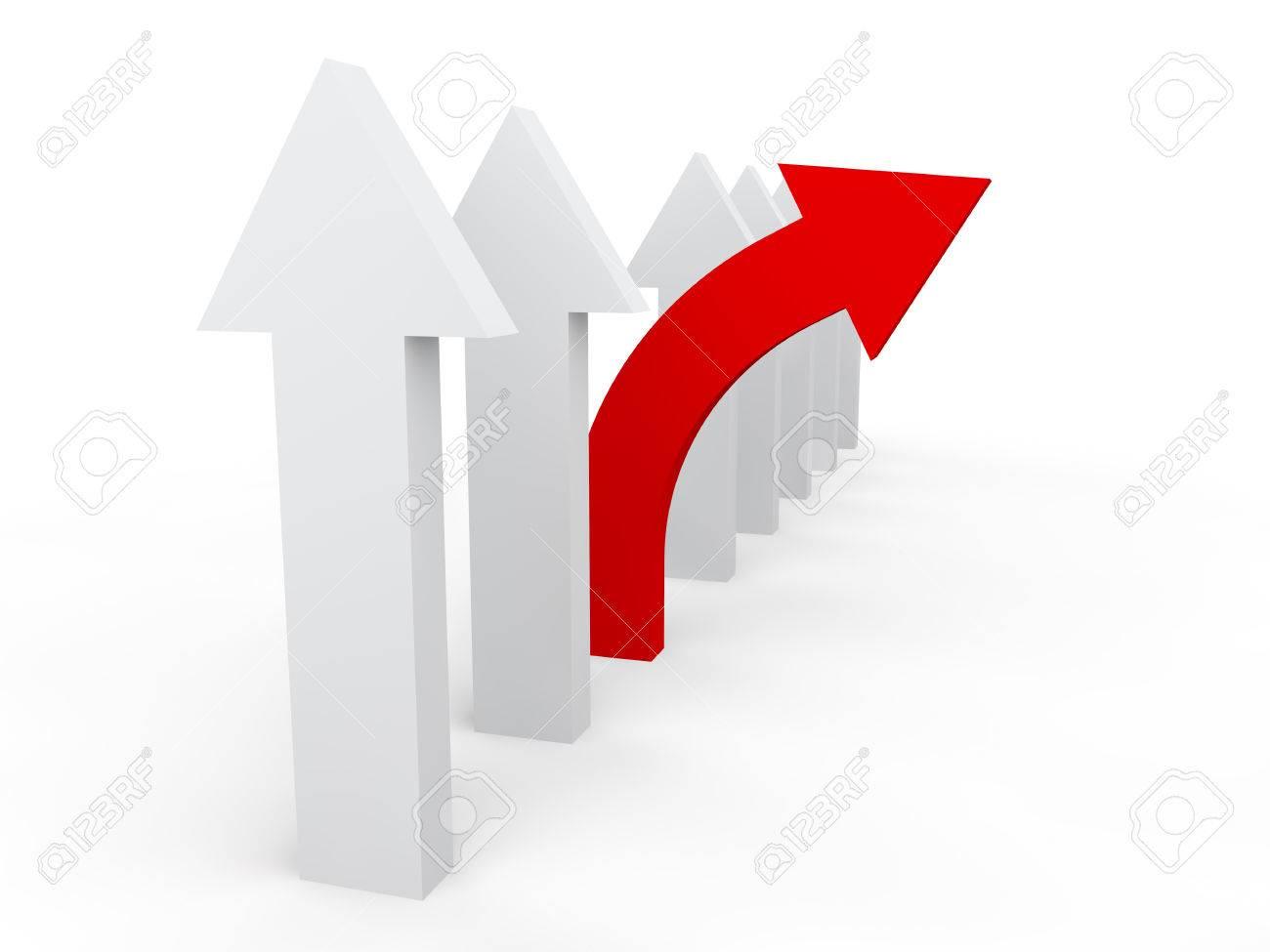 3d unique deviating arrow in a row - 47107117