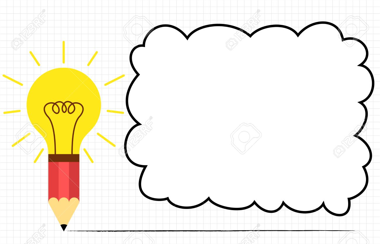 Idea Bulb With Pencil Educational Background Stock Photo, Picture ...