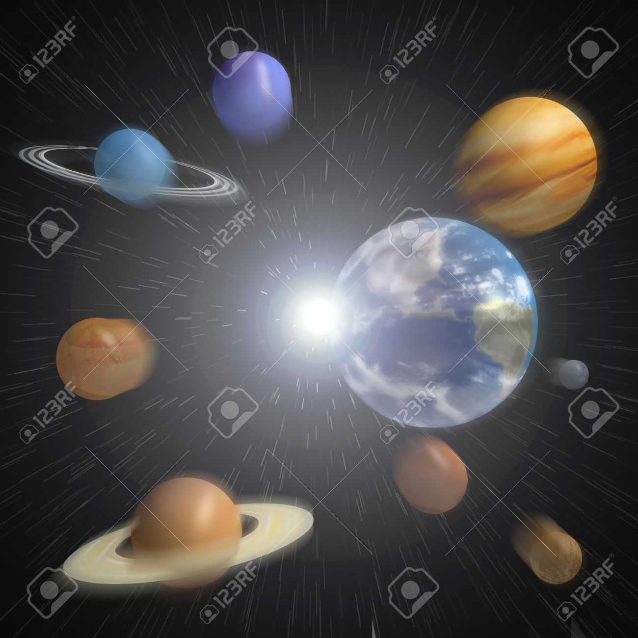 The Planets Of Our Solar System Emerging From An Explosion ...