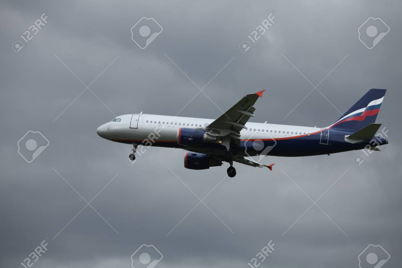 Airbus passenger aircraft in the air company Aeroflot Stock Photo - 17403097