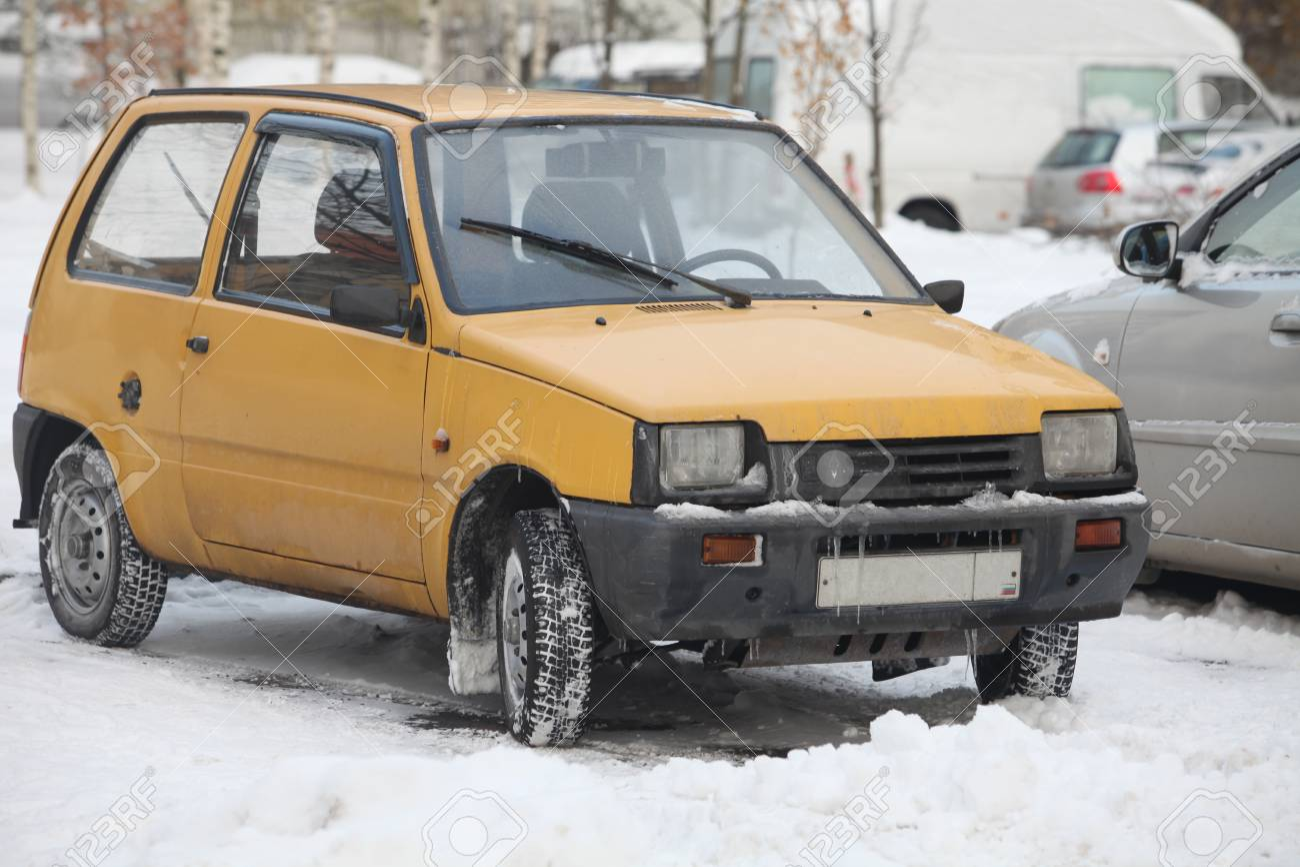 St Petersburg Russia November 13 2016 Minicar Vaz 1111 Oka