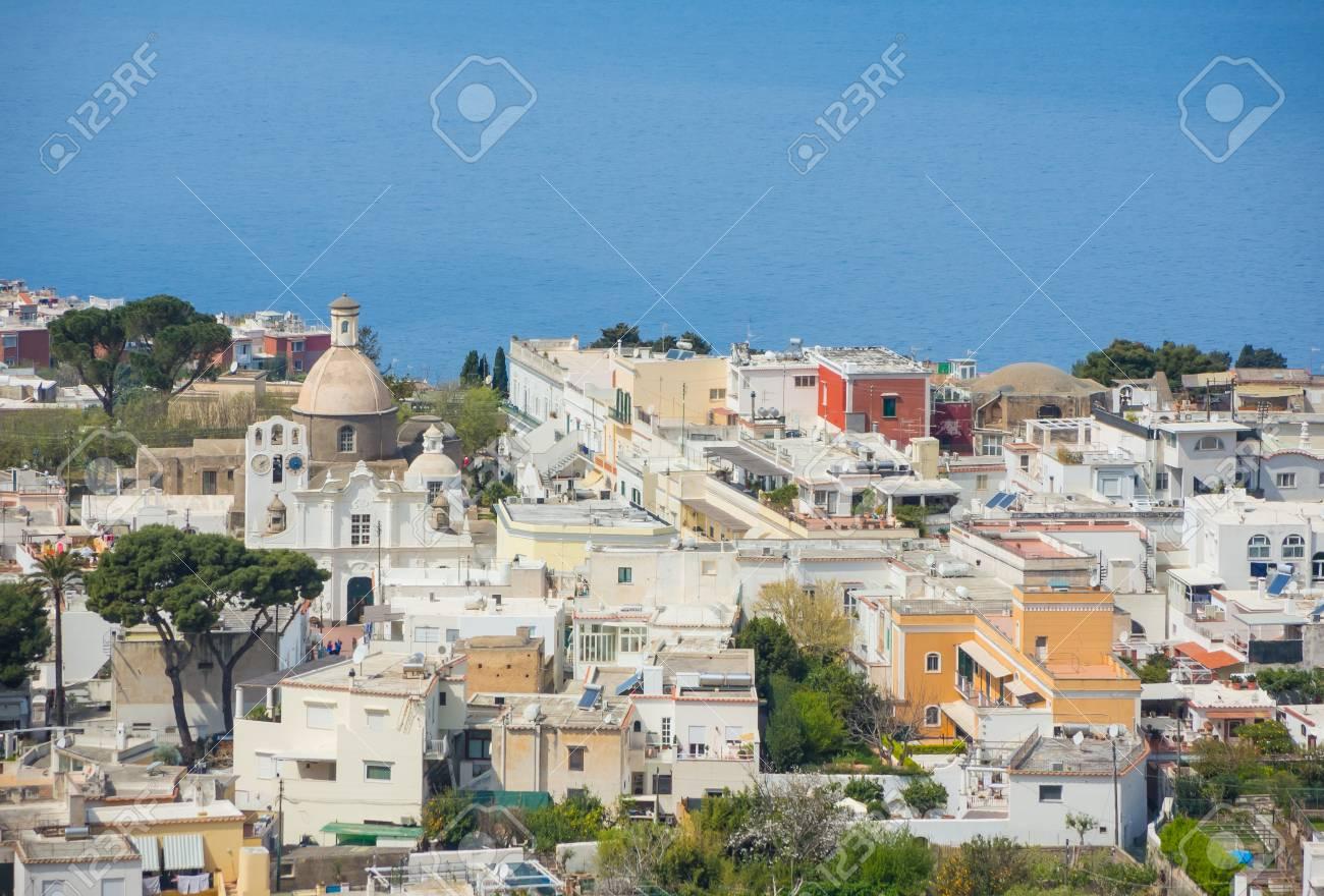 capri naples italy views of the village of anacapri from the