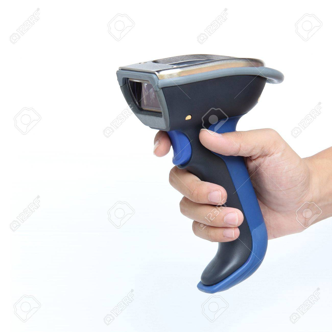 Bluetooth barcode scanner isolated over white background Stock Photo - 15703398