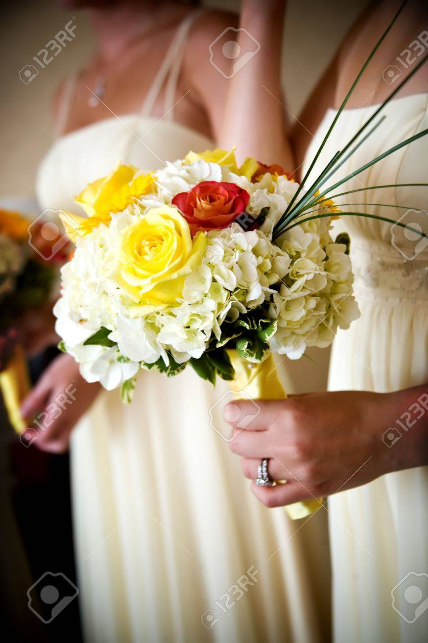 Wedding bouquet of mixed flower arrangement with yellow and white stock photo wedding bouquet of mixed flower arrangement with yellow and white mightylinksfo