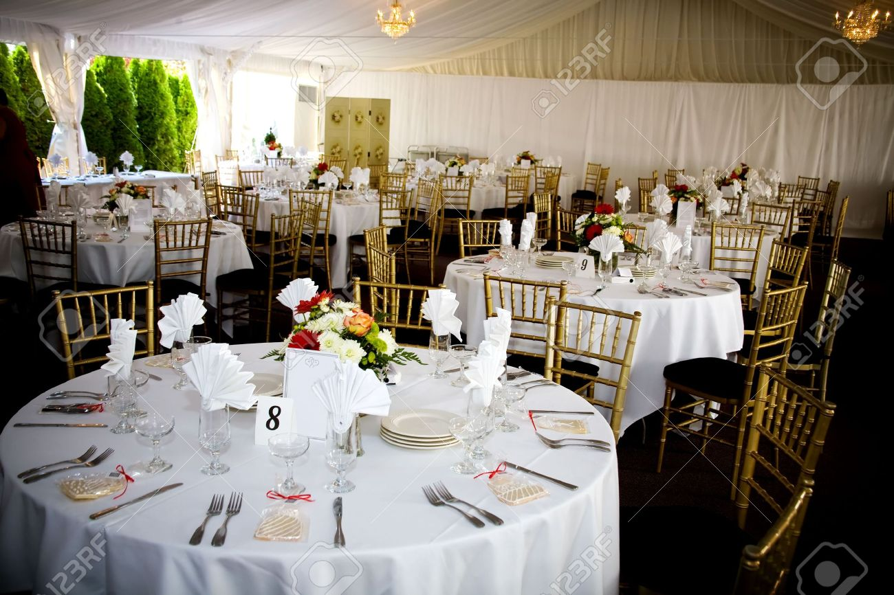 Decorated Tables Table Set For A Wedding Or Catered Social Event Decorated Cookie