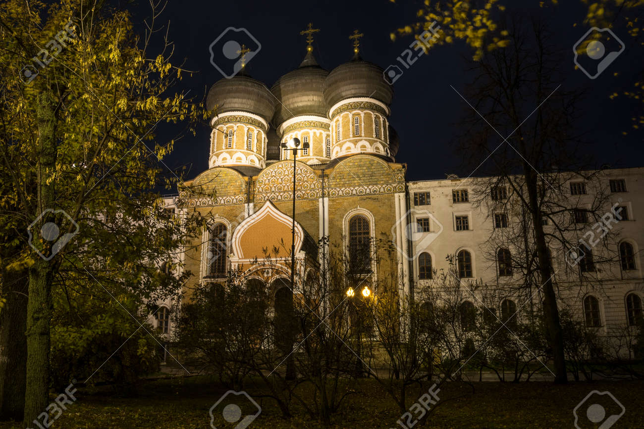 Moscow at night. - 131733851