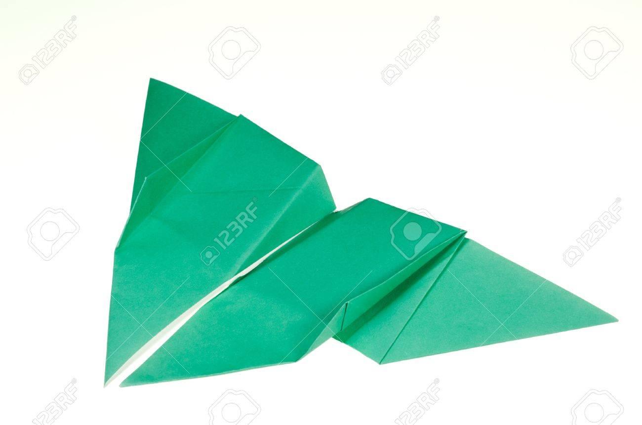 Origami Pliage De Papier D Un Papillon Isolé Sur Fond Blanc