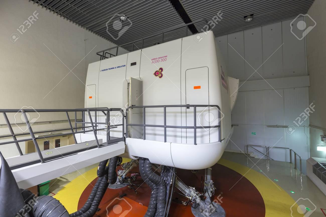 BANGKOK, THAILAND -FEB 12, 2016: Airbus A330-300 Flight Simulator