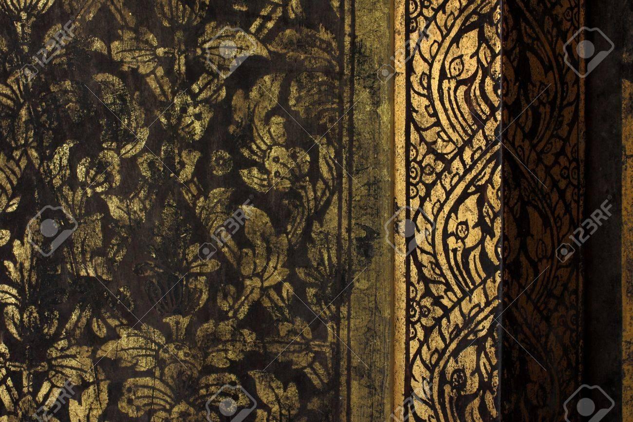 gold texture thai style Stock Photo - 7085337