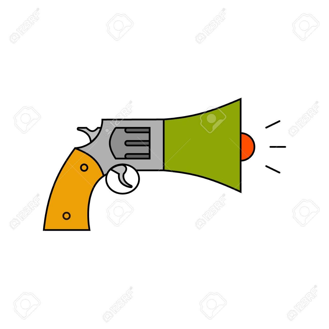 information war icon information war concept revolver and