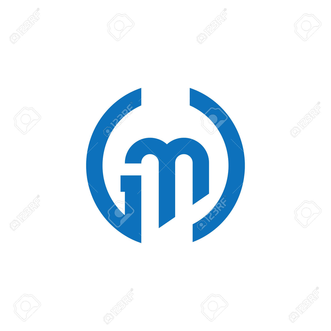 Initial letter gm logo or mg logo vector design template - 157602457