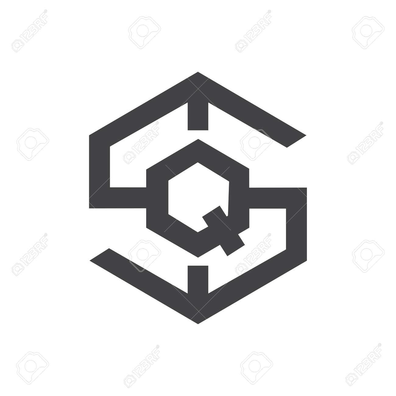 Initial qs letter logo vector template design. Linked letter sq logo design. Simple qs vector template. - 167614315