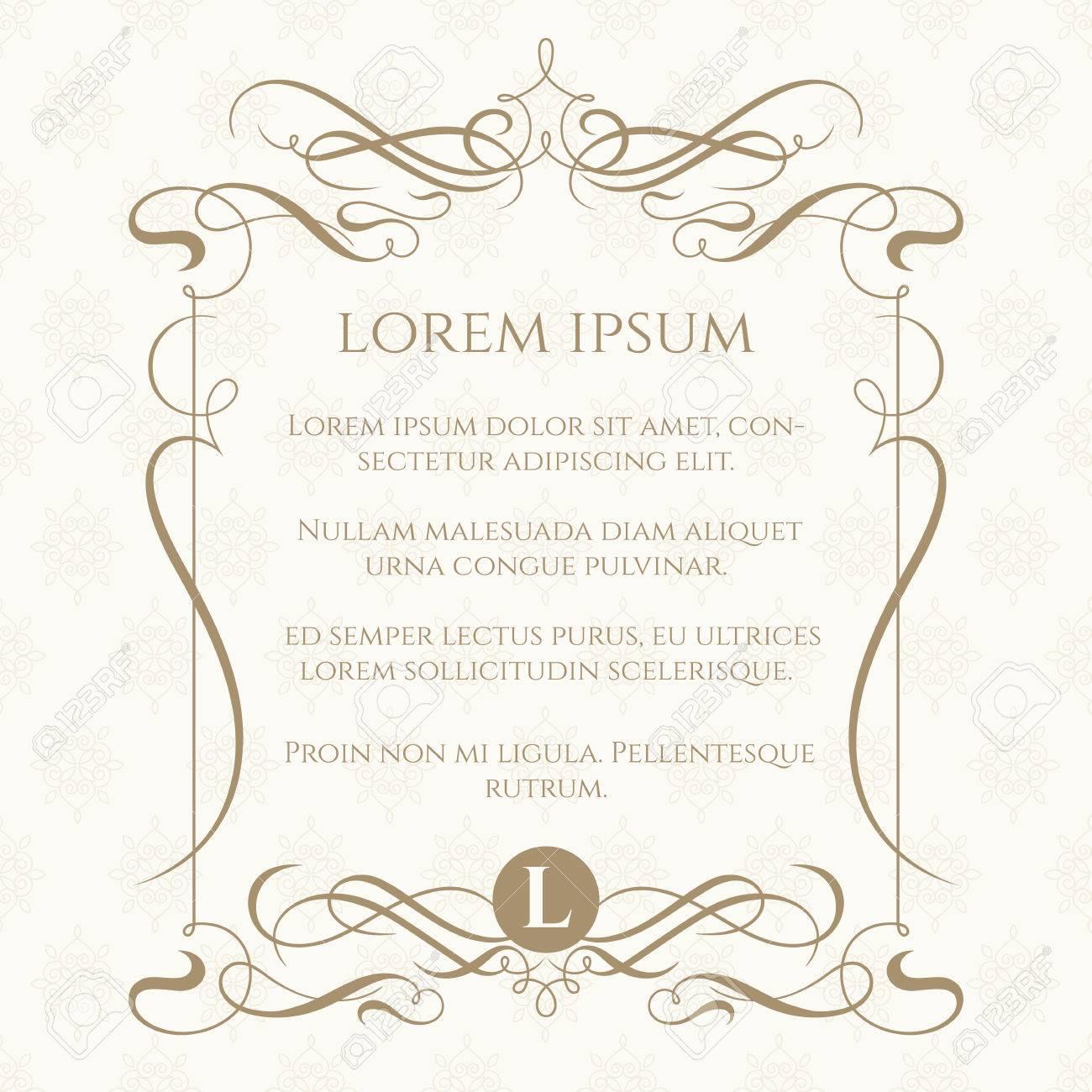 Top Monogram, Cornice Caligraphic E Seamless Classico. Template Per  LC66