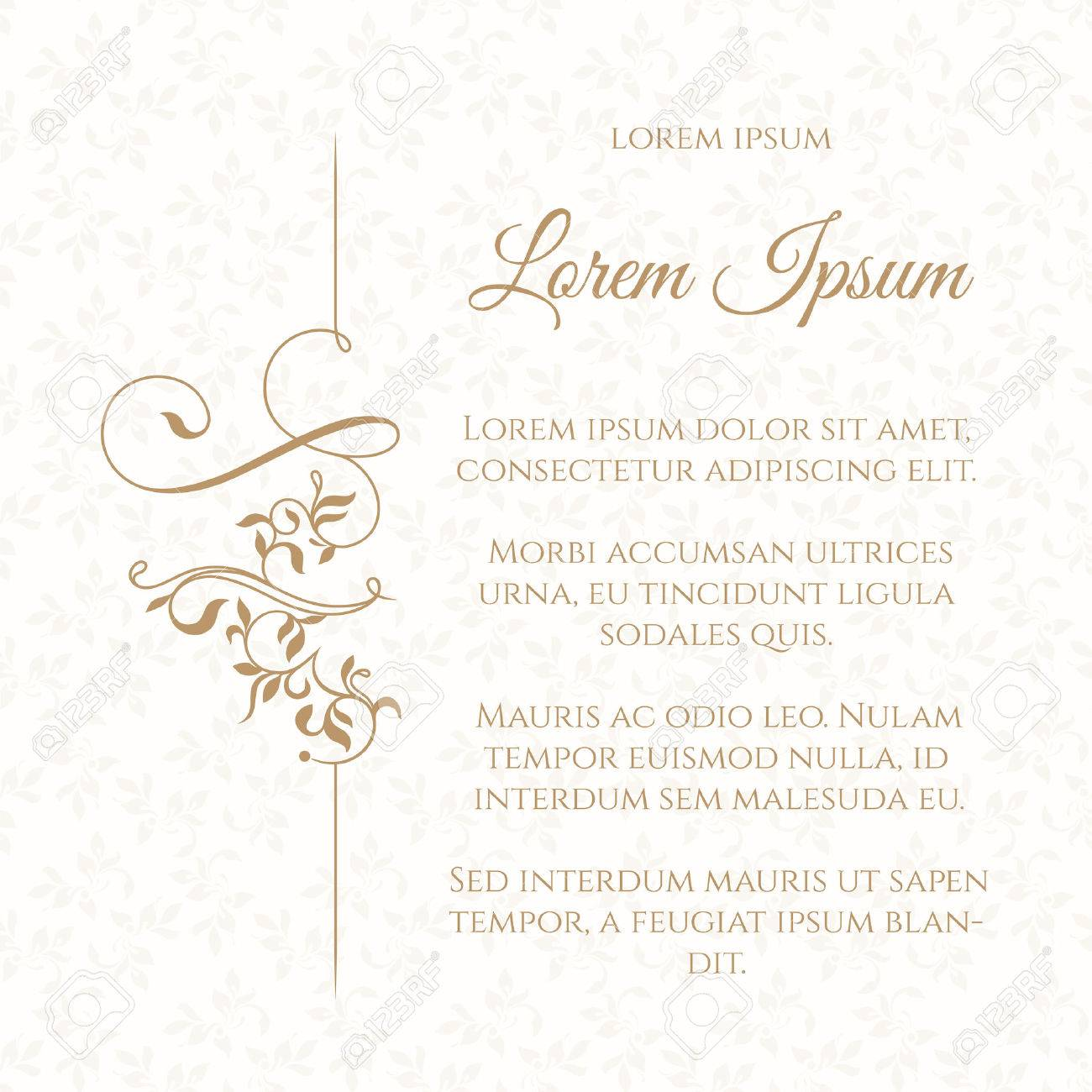 Border and seamless pattern. Template for greeting cards, invitations, menus. Graphic design page. - 50021663