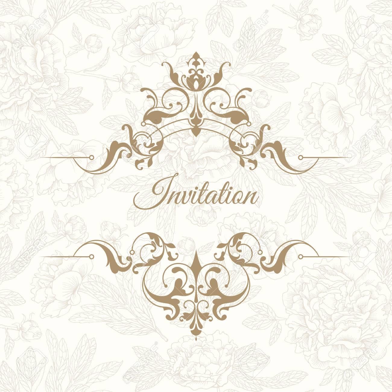 Vorlage Für Grußkarten, Einladungen, Speisekarten, Schilder, Logos ...