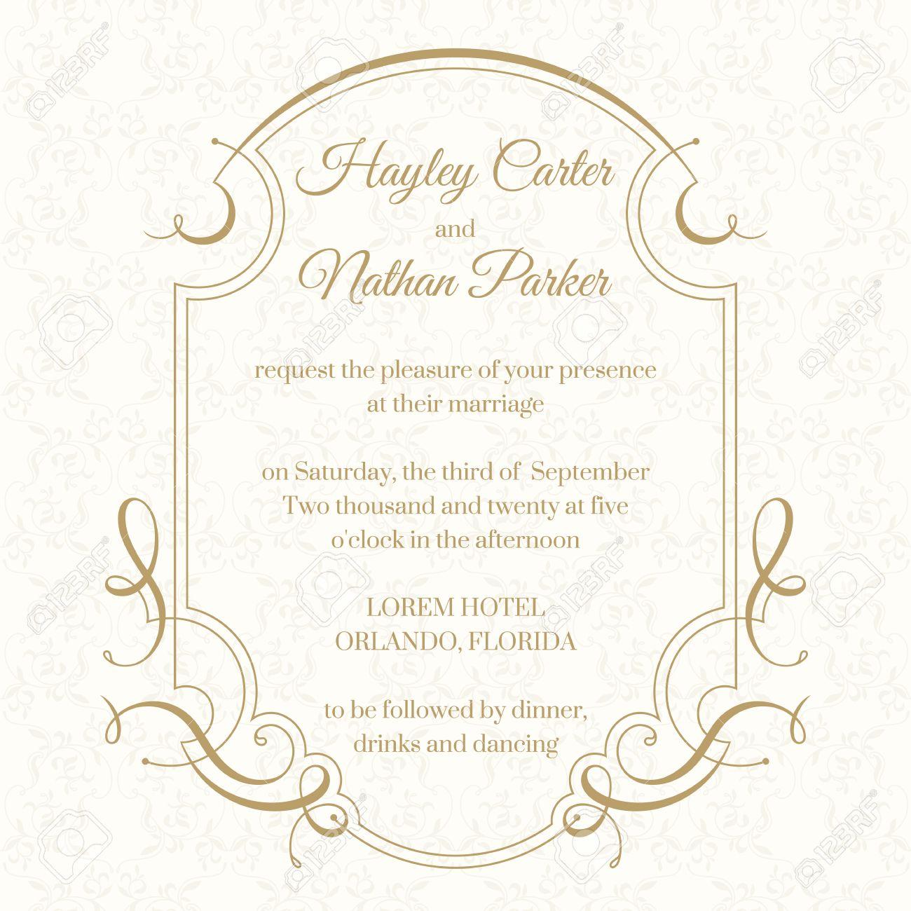 Groß Vorlage Hochzeitseinladungen Galerie - Entry Level Resume ...