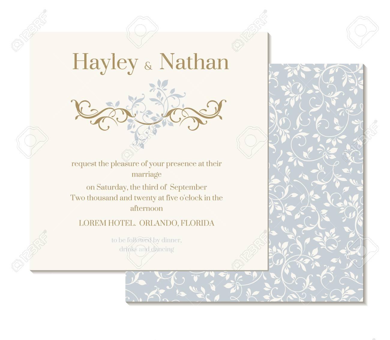 Decorative Floral Border. Wedding Invitation. Floral Seamless ...