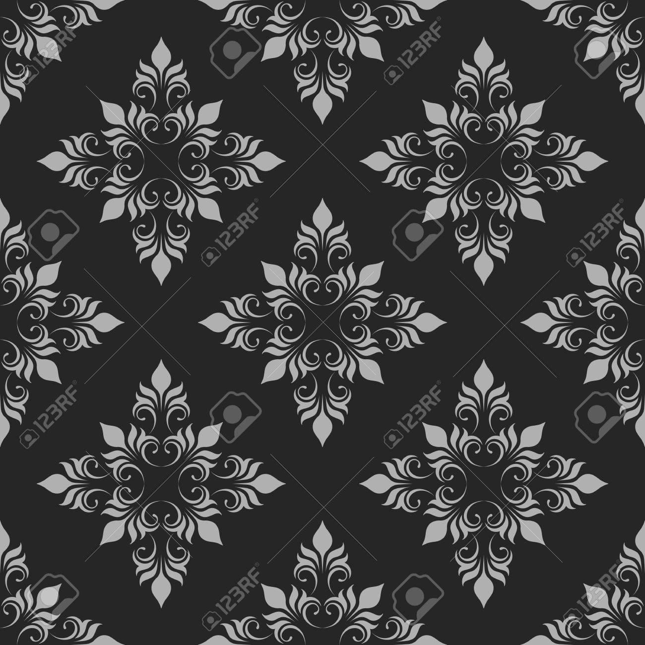 Dark Seamless Pattern. Classical Ornament. Decorative Background. - 64883274