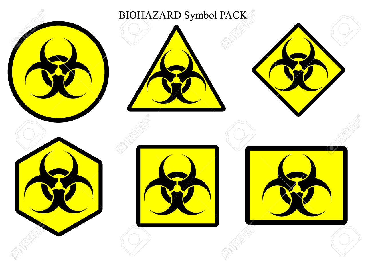 Biohazard Symbol Label Pack Isolate Royalty Free Cliparts Vectors