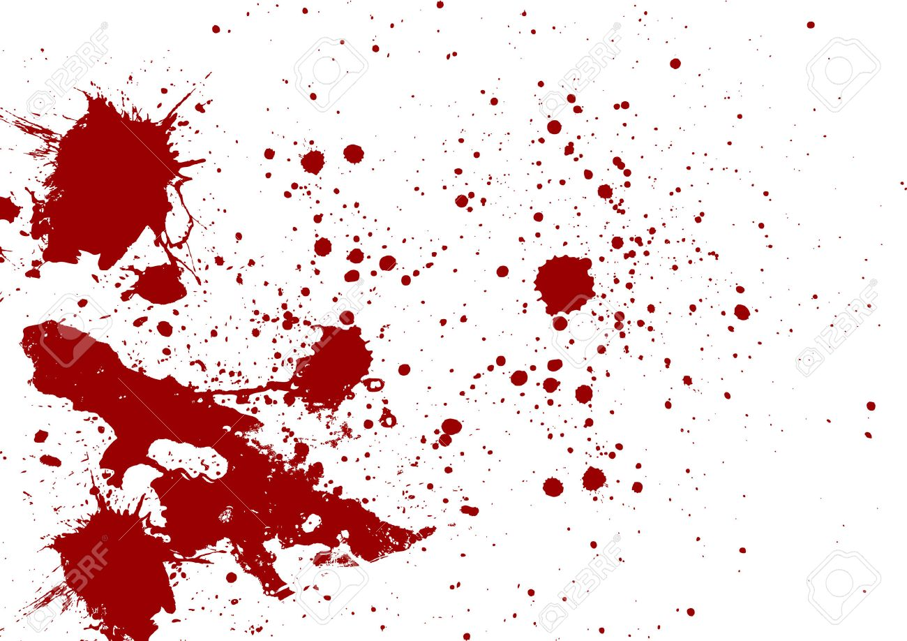 Abstract red color splatter on white background - 39550091